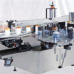 Kristalezko lurrina botila goiko gainazaleko etiketa makina